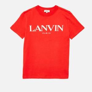 Lanvin Boys' Logo T-Shirt - Bright Red