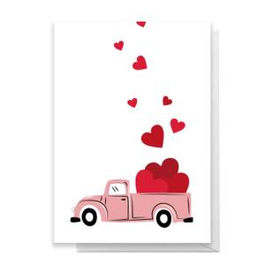 Love Truck Greetings Card