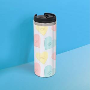 Love Hearts Stainless Steel Thermo Travel Mug