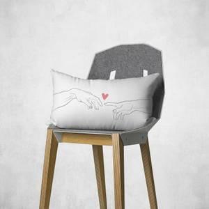 Reaching Out Rectangular Cushion