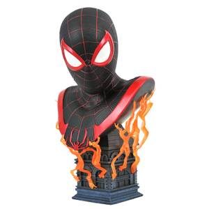 Diamond Select Marvel Legends In 3D 1/2 Scale Bust - Spider-Man Miles Morales