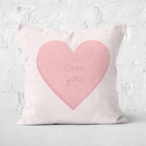 Love You Love Hearts Square Cushion
