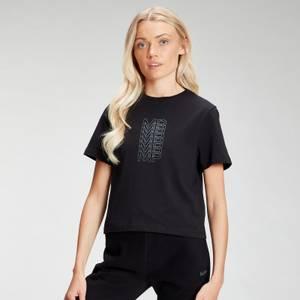 MP Women's Repeat MP Crop T-Shirt - Black