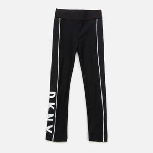 DKNY Girls' Jersey Logo Leggings - Black