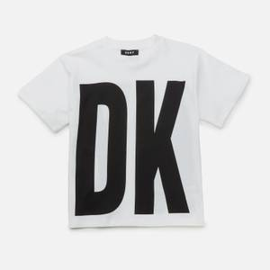 DKNY Girls' Logo T-Shirt - White
