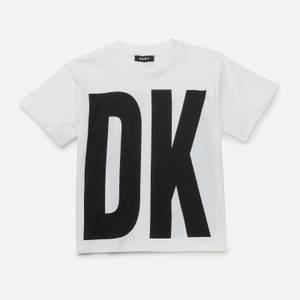 DKNY Girls' Logo T-Shirt - White