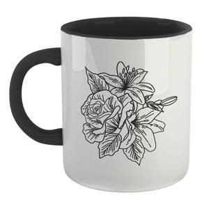 B&W Floral Mug - White/Black