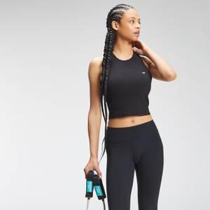 MP Women's Essential Cropped Rib Vest - Black