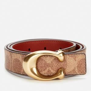 Coach Women's 25mm C Reversible Signature Belt - B4/Tan Rust
