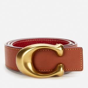 Coach Women's 32mm C Reversible Belt - B4/1941 Saddle 1941 Red