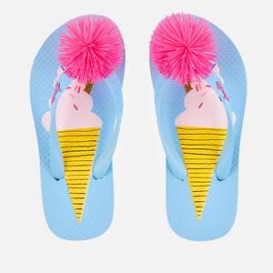 Joules Kids' Flip Flops - Blue Ice Cream