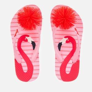 Joules Kids' Flip Flops - Pink Flamingo