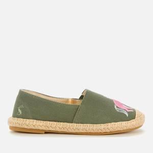 Joules Girls' Shelbury Espadrille Sandals - Green
