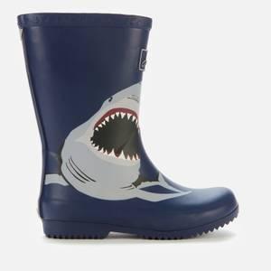 Joules Kids' Roll Up Wellies - Navy Shark