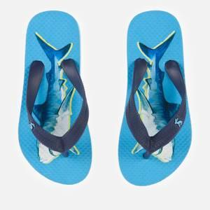 Joules Kids' Flip Flops - Blue Shark