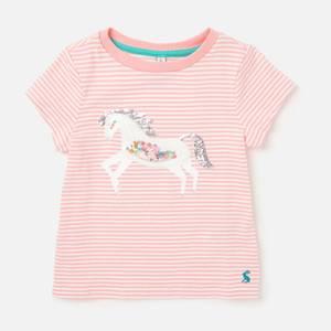 Joules Girls' Paige Unicorn T-Shirt - Pink Unicorn