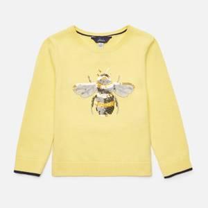 Joules Girls' Miranda Jumper - Yellow Bee
