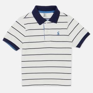 Joules Boys' Filbert Stripe Polo Shirt - White Stripe