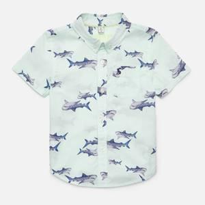 Joules Boys' Sefton Shirt - Green Sharks