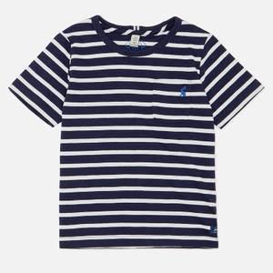 Joules Boys' Laundered Stripe T-Shirt - Navy White Stripe
