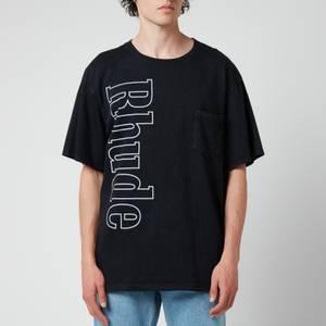Rhude Men's Logo Pocket T-Shirt - Black