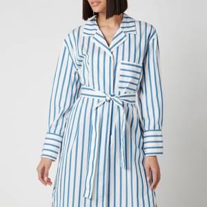 BOSS Women's Disso Shirt Dress - Open Blue
