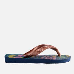 Havaianas Kids' Flores Flip Flops - Black, Blue & Gold