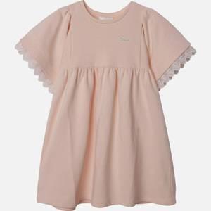 Chloe Girls' Frill Dress - Pale Pink