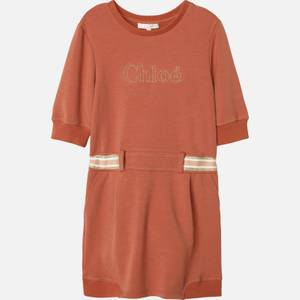 Chloe Girls' Sweatshirt Dress - Brick