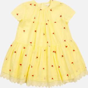 Chloe Girls' Flare Dress - Lime