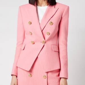 Balmain Women's 6 Button Cotton Pique Jacket - Rose Moyen