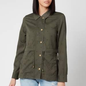 Joules Women's Olena Print Jacket - Khaki Star