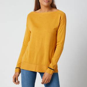 Joules Women's Vivianna Knitted Sweatshirt - Ochre
