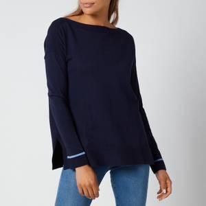 Joules Women's Vivianna Knitted Sweatshirt - French Navy