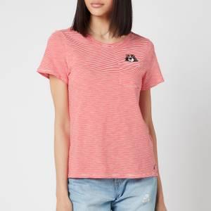 Joules Women's Carley Print T-Shirt - Spaniel Pocket