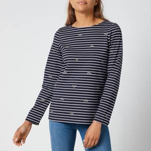 Joules Women's Harbour Print Long Sleeve Top - Bees Stripe