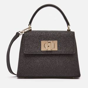 Furla Women's 1927 Mini Top Handle Microglitter - Black