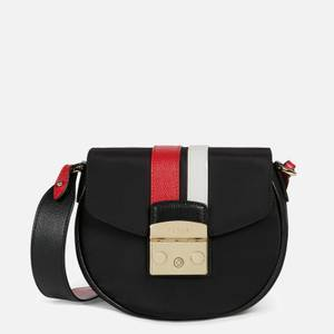 Furla Women's Metropolis Mini Cross Body Bag Round - Nero/Ruby