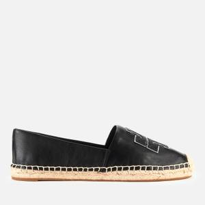 Tory Burch Women's Ines Leather Espadrilles - Perfect Black/Silver