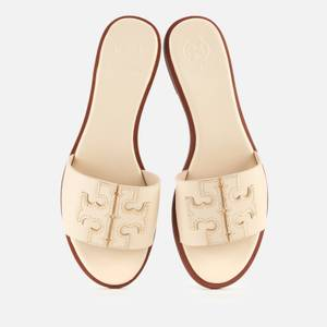Tory Burch Women's Ines Leather Slide Sandals - New Cream/Gold
