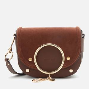 See by Chloé Women's Mara Suede/Leather Cross Body Bag - Somber Brown