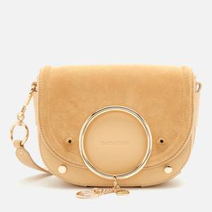 See by Chloé Women's Mara Suede/Leather Cross Body Bag - Seed Brown