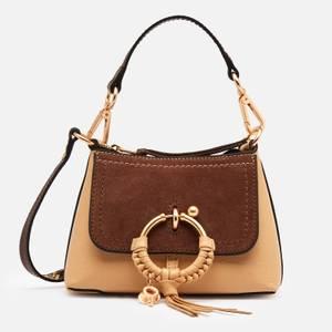 See by Chloé Women's Mini Joan Hobo Python Trim Cross Body Bag - Seed Brown