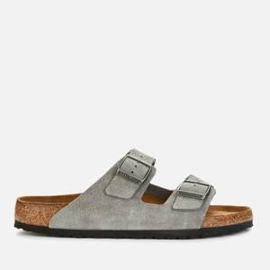 Birkenstock Men's Arizona Nubuck Double Strap Sandals - Whale Grey