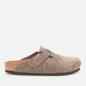 Birkenstock Men's Boston Wool Mules - Cacao