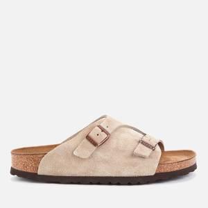 Birkenstock Women's Zurich Sfb Suede Slide Sandals - Taupe