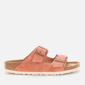 Birkenstock Women's Arizona Sfb Suede Double Strap Sandals - Earth Red