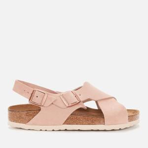 Birkenstock Women's Tulum Sfb Suede Cross Front Sandals - Light Rose