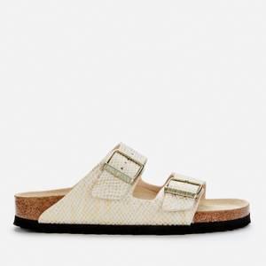 Birkenstock Women's Shiny Python Arizona Double Strap Sandals - Eggshell/Gold