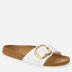 Birkenstock Women's Patent Madrid Big Buckle Signle Strap Sandals - White